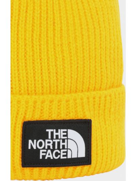 Желтая вязаная шапка с помпоном The North Face