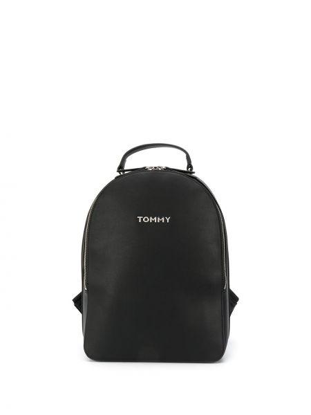 Черная сумка на плечо круглая с карманами на бретелях Tommy Hilfiger