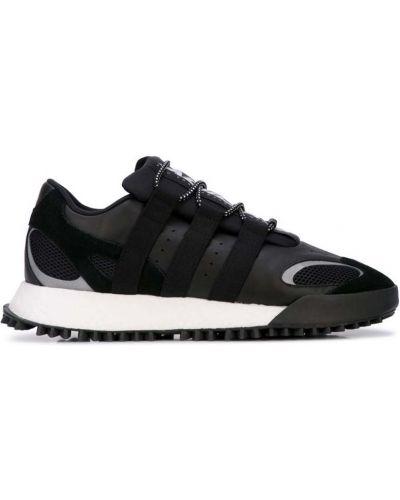 Кожаные кроссовки черные Adidas Originals By Alexander Wang