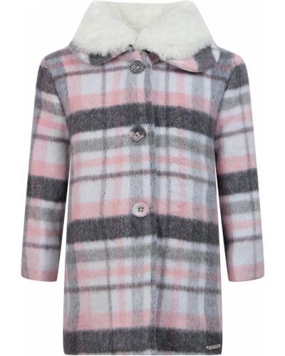 Розовое пальто из вискозы Mayoral