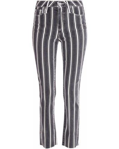 Расклешенные джинсы на пуговицах с узором Paige