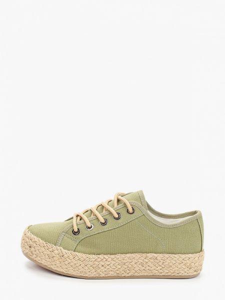 Текстильные зеленые эспадрильи Kylie