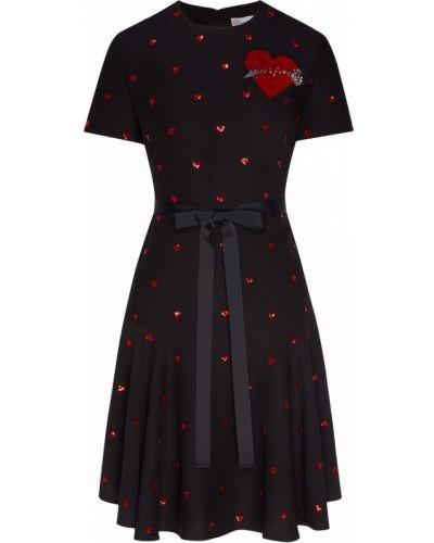 Платье мини с пайетками с поясом Red Valentino