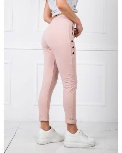 Różowy dres bawełniany Fashionhunters