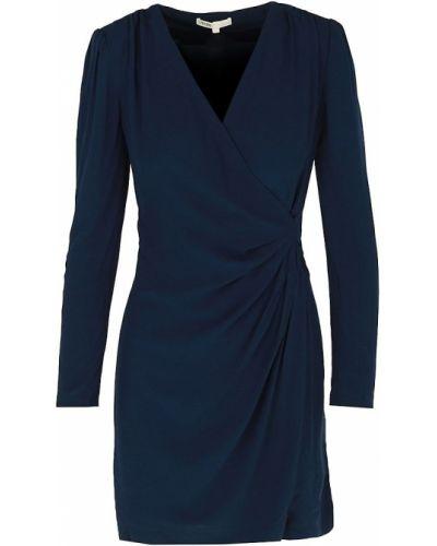 Платье макси с длинными рукавами с подкладкой с оборками Maje