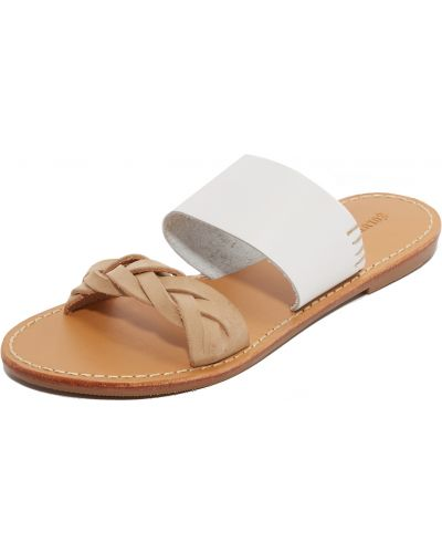 Białe sandały skorzane Soludos