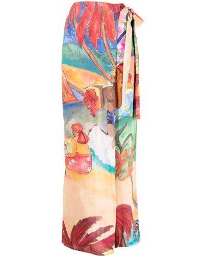 Розовые брюки с принтом Stella Jean