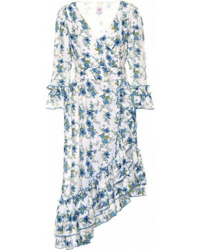 Платье миди с цветочным принтом льняное Gül Hürgel