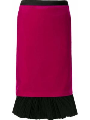 Spódnica ołówkowa - różowa Karl Lagerfeld