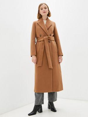 Пальто двубортное - коричневое Electrastyle