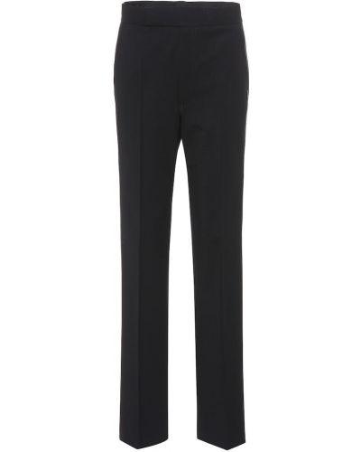 Spodni czarny wełniany klasyczne spodnie z zamkiem błyskawicznym Helmut Lang