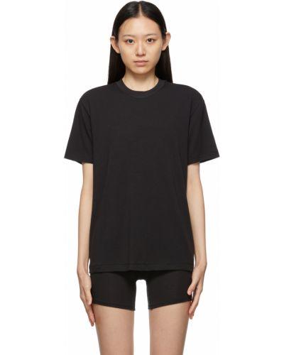 Черная футболка с воротником Skims