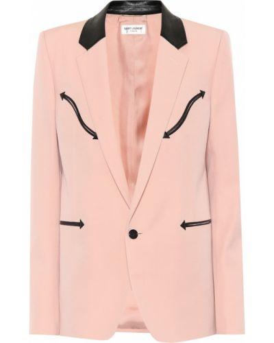 Пиджак шерстяной розовый Saint Laurent