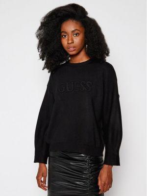 Czarny sweter przeoczenie Guess