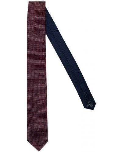 Czerwony krawat z jedwabiu Tommy Hilfiger Tailored