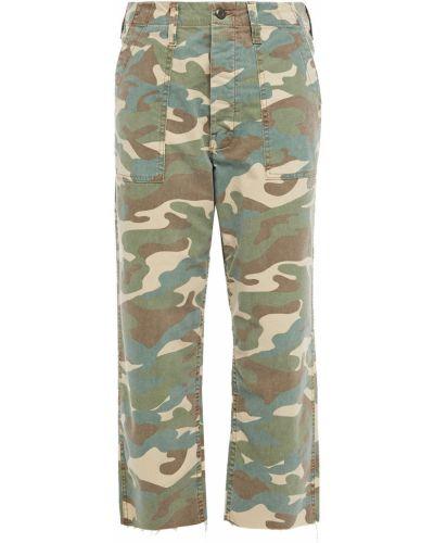 Армейские хлопковые синие джинсы бойфренды Mother