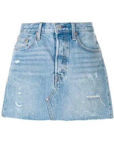 Юбка мини классическая джинсовая кожаная Levi's®