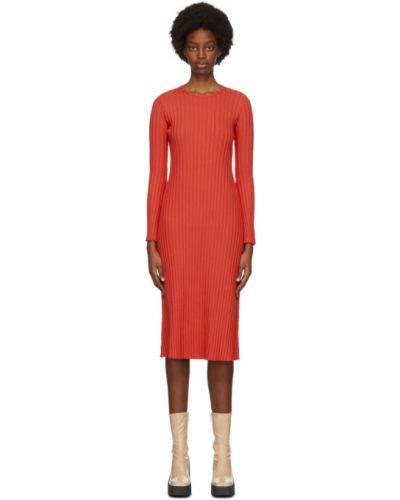 Платье макси с длинными рукавами с воротником стрейч Simon Miller