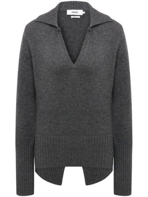 Трикотажный пуловер - серый Not Shy