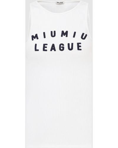Белый топ Miu Miu