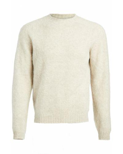 Prążkowany długi sweter wełniany z długimi rękawami Norse Projects