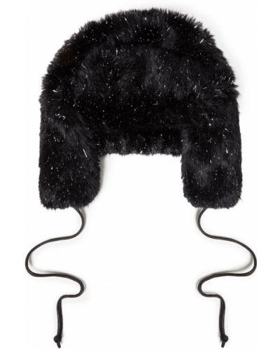 Кожаная шапка - черная Eugenia Kim