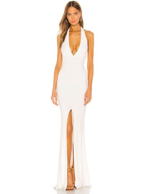 Biała sukienka z nylonu Nookie