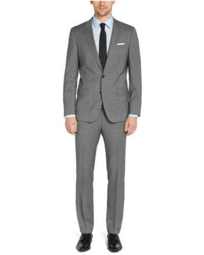 Szary garnitur elegancki wełniany Hugo Boss