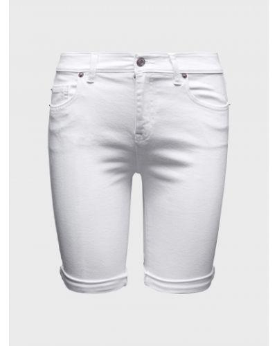 Szorty jeansowe - białe Gap