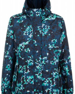 Синяя нейлоновая куртка с капюшоном на молнии сноубордическая Exxtasy