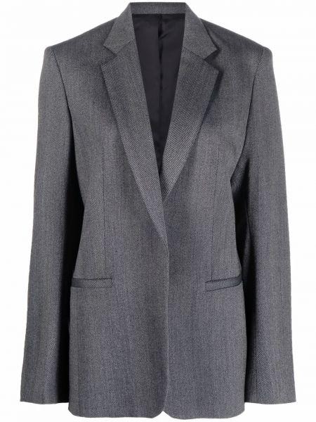 Серый шерстяной пиджак Toteme