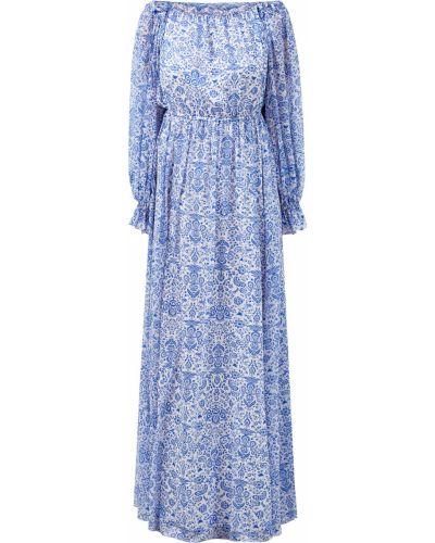 Шифоновое платье макси - голубое Alexander Terekhov