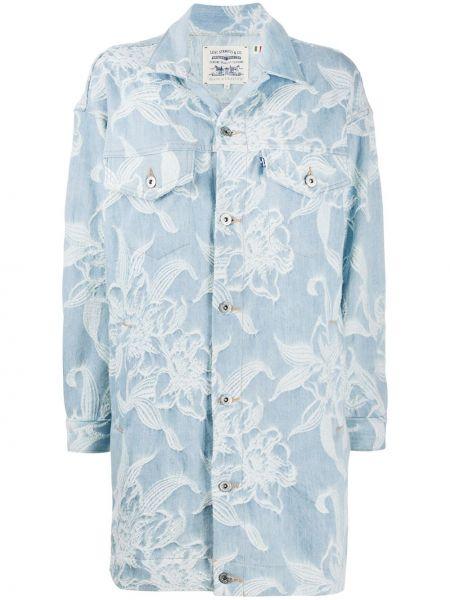 Синее платье макси с воротником на пуговицах Levi's®