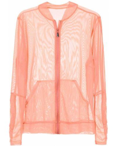 Прямая розовая длинная куртка Track & Field