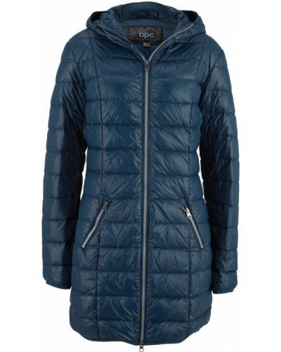 Синяя длинная куртка двусторонняя Bonprix