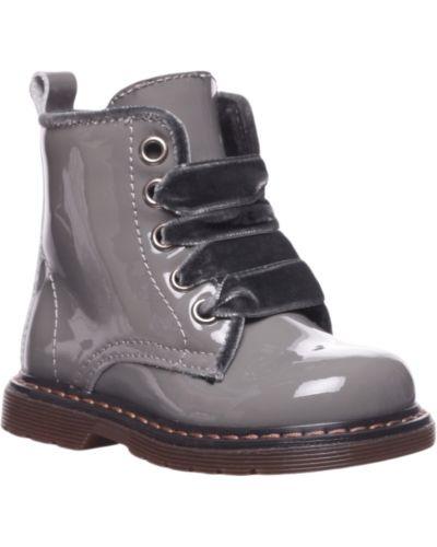 Ботинки лаковые серые Twin-set