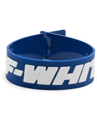 Niebieska bransoletka z printem Off-white
