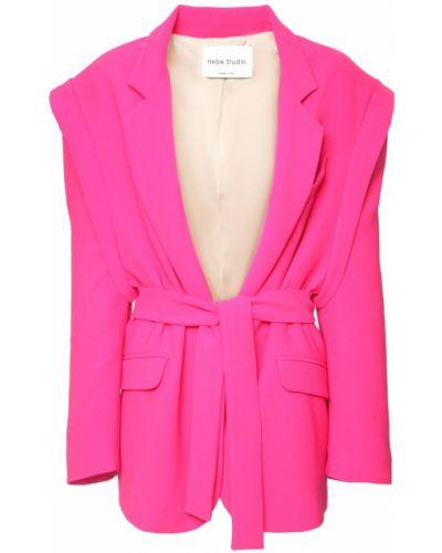 Розовый пиджак с карманами Hebe Studio