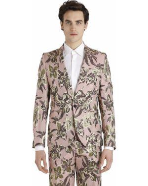 Satynowa różowa kurtka Christian Pellizzari