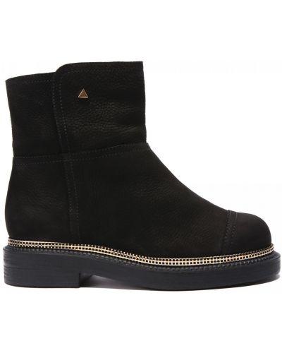 Кожаные ботинки круглые закрытые Grey Mer