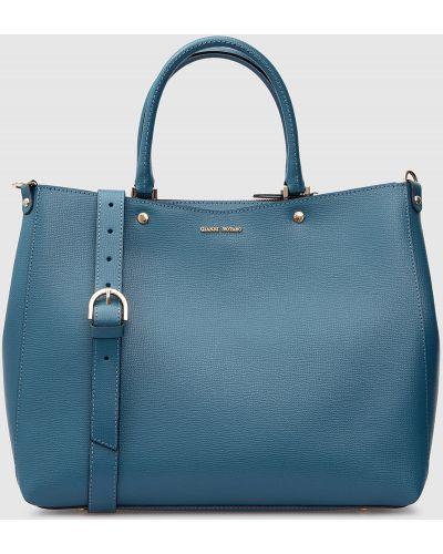 Кожаная сумка - бирюзовая Gianni Notaro