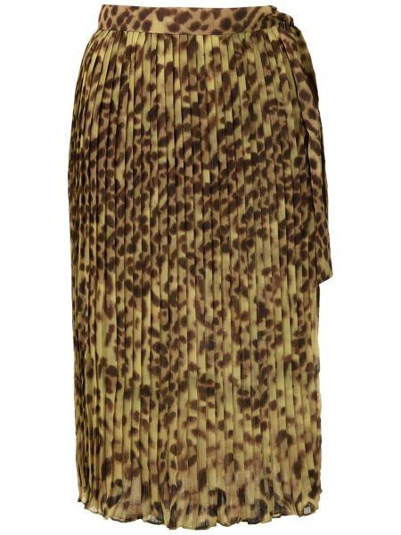 Плиссированная юбка - желтая Adriana Degreas