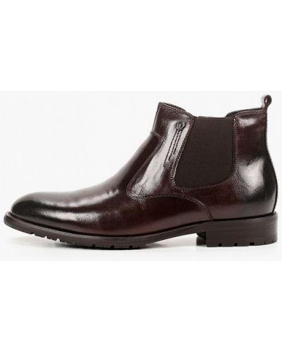 Коричневые кожаные ботинки Rossini Roberto