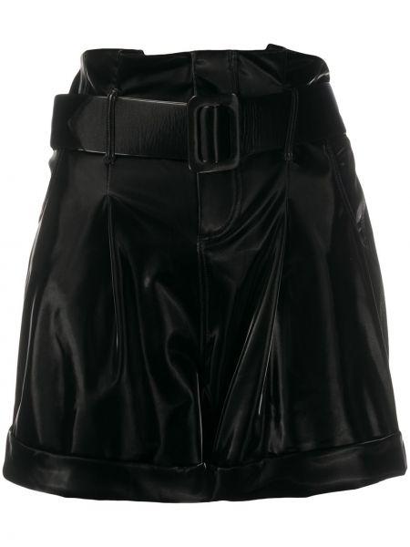 Черные с завышенной талией шорты на молнии Federica Tosi