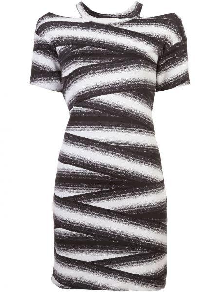 Платье из полиэстера - белое Nicole Miller