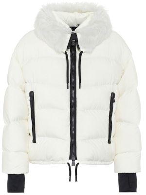 Зимняя куртка облегченная белая Moncler Grenoble