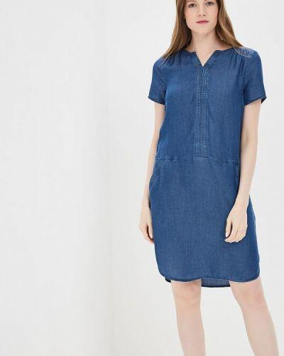 Синее платье Tom Tailor