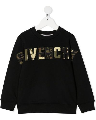 Czarna bluza z długimi rękawami z printem Givenchy