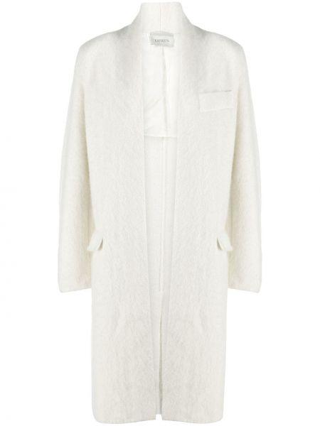Прямое длинное пальто из альпаки без застежки Laneus