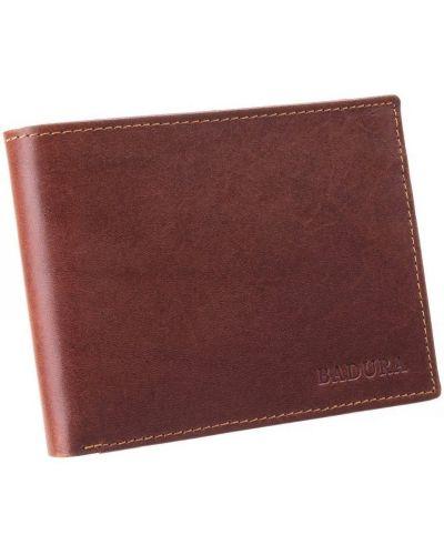 Brązowy portfel skórzany elegancki Badura